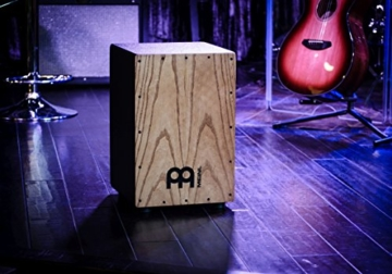Meinl Percussion HCAJ1AWA Headliner Series String Cajon, Frontplatte: Stained American White Ash, mittlere Größe - 6