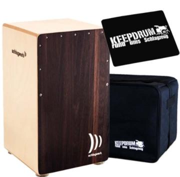 Schlagwerk CP-408 Cajon 2inOne Dark Oak + Keepdrum Gig Bag + CP-01 Pad GRATIS! - 1