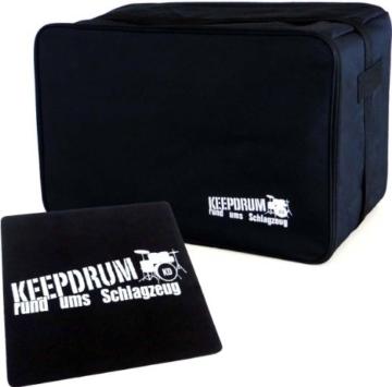 Keepdrum CB-01 Cajon Gig Bag Tasche Cajontasche + Pad CP-01 Sitzauflage - 1