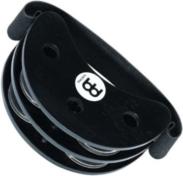Meinl Percussion FJS2S-BK Foot Tambourine mit Edelstahlschellen, schwarz - 2