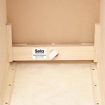 Sela CaSela Snare Cajon Bausatz Satin Nuss SE 002 - Edelfurnier Spielfläche, herausnehmbare Snare - 12