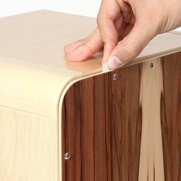 Sela CaSela Snare Cajon Bausatz Satin Nuss SE 002 - Edelfurnier Spielfläche, herausnehmbare Snare - 13