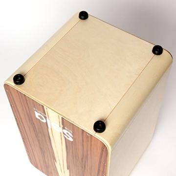 Sela CaSela Snare Cajon Bausatz Satin Nuss SE 002 - Edelfurnier Spielfläche, herausnehmbare Snare - 16