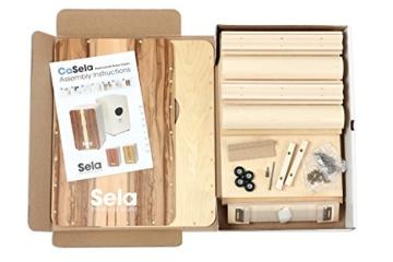 Sela CaSela Snare Cajon Bausatz Satin Nuss SE 002 - Edelfurnier Spielfläche, herausnehmbare Snare - 3