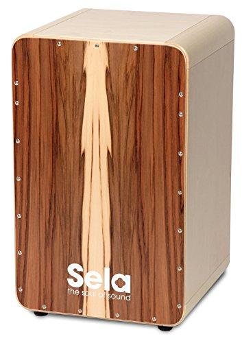 Sela CaSela Snare Cajon Bausatz Satin Nuss SE 002 - Edelfurnier Spielfläche, herausnehmbare Snare - 4