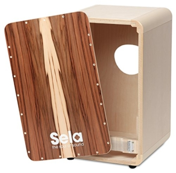Sela CaSela Snare Cajon Bausatz Satin Nuss SE 002 - Edelfurnier Spielfläche, herausnehmbare Snare - 1