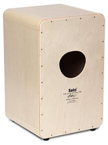 Sela CaSela Snare Cajon Bausatz Satin Nuss SE 002 - Edelfurnier Spielfläche, herausnehmbare Snare - 5