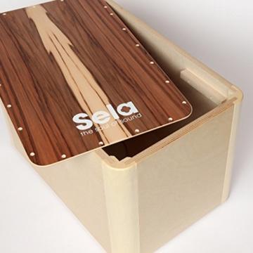 Sela CaSela Snare Cajon Bausatz Satin Nuss SE 002 - Edelfurnier Spielfläche, herausnehmbare Snare - 9