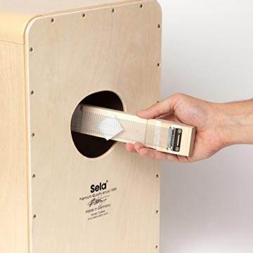 Sela CaSela Snare Cajon Bausatz Satin Nuss SE 002 - Edelfurnier Spielfläche, herausnehmbare Snare - 10
